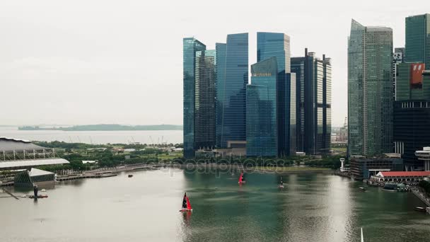 Timelapse of Raffles Place in Singapore