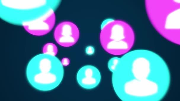 profil sociální sítě formující mapu světa