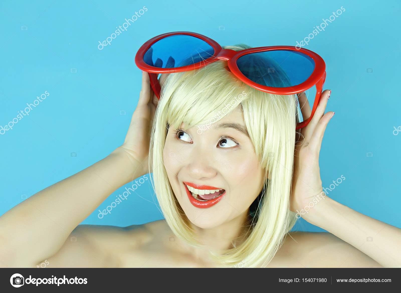 Naughty blonde