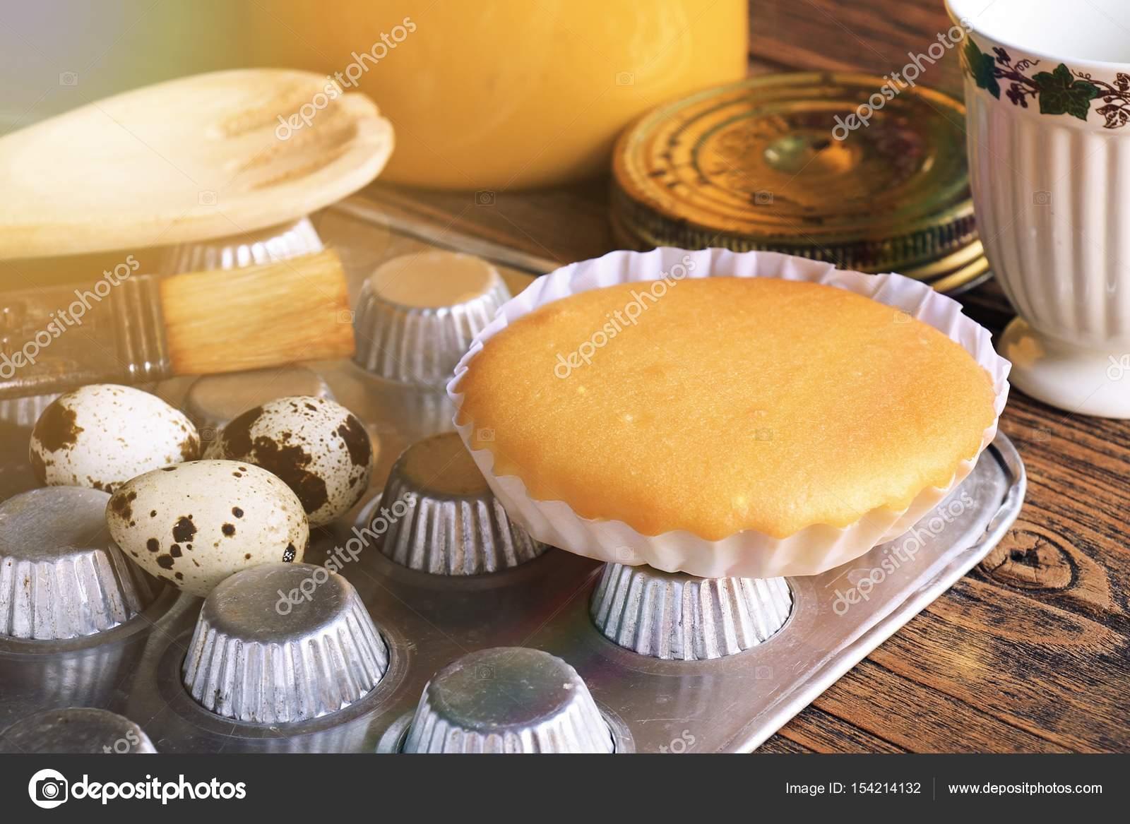 Ein Weicher Kuchen Mit Englischem Tee Leichtes Fruhstuck Am Morgen