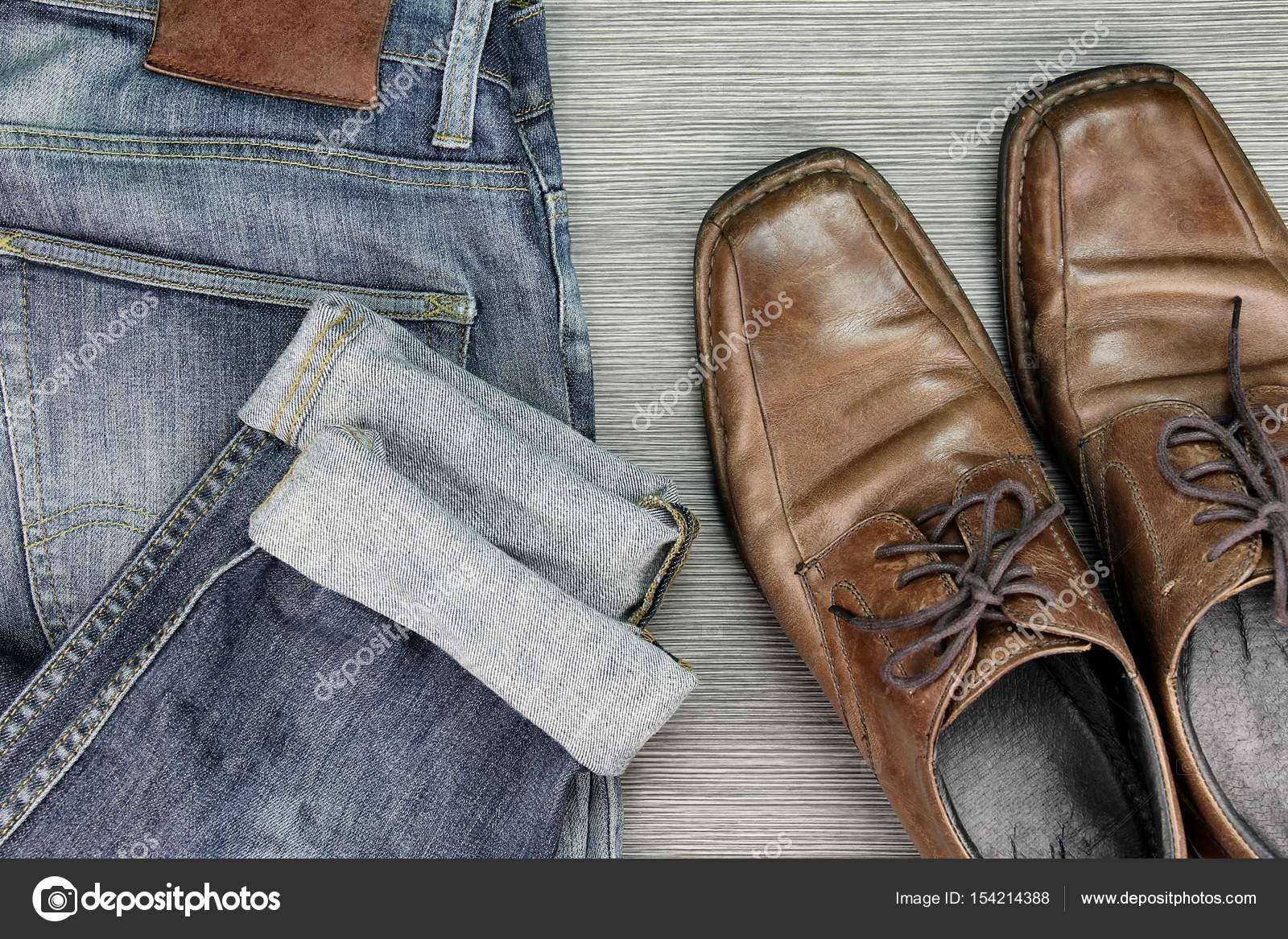 Moda Elegante Cuero CasualJeans HombresRopa Y De AzulZapatos uKc1J5lTF3