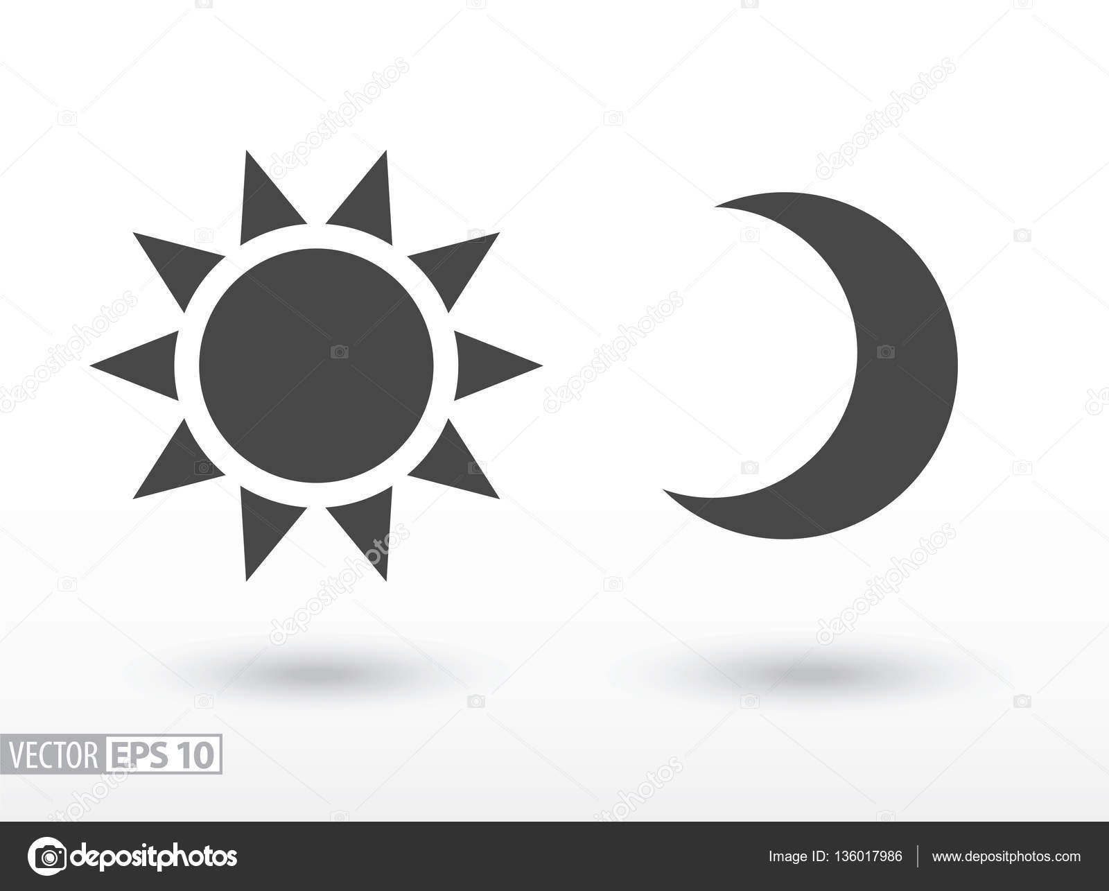 Sun and moon flat icon vector logo for web design mobile and sun and moon flat icon vector logo for web design mobile and infographics biocorpaavc Images