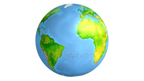 Země. Izolované na bílém pozadí