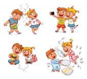 Children spend leisure time fun