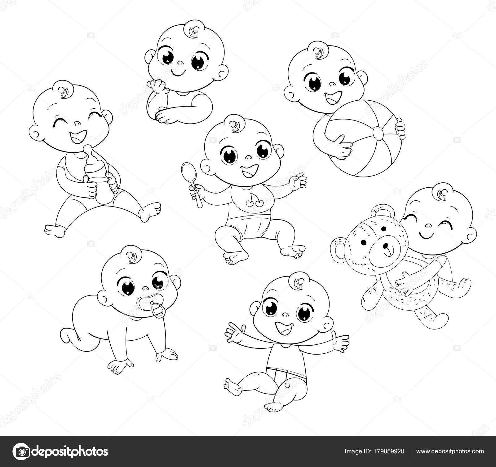 Dibujos Dibujo De Bebe Recien Nacido Para Colorear Con