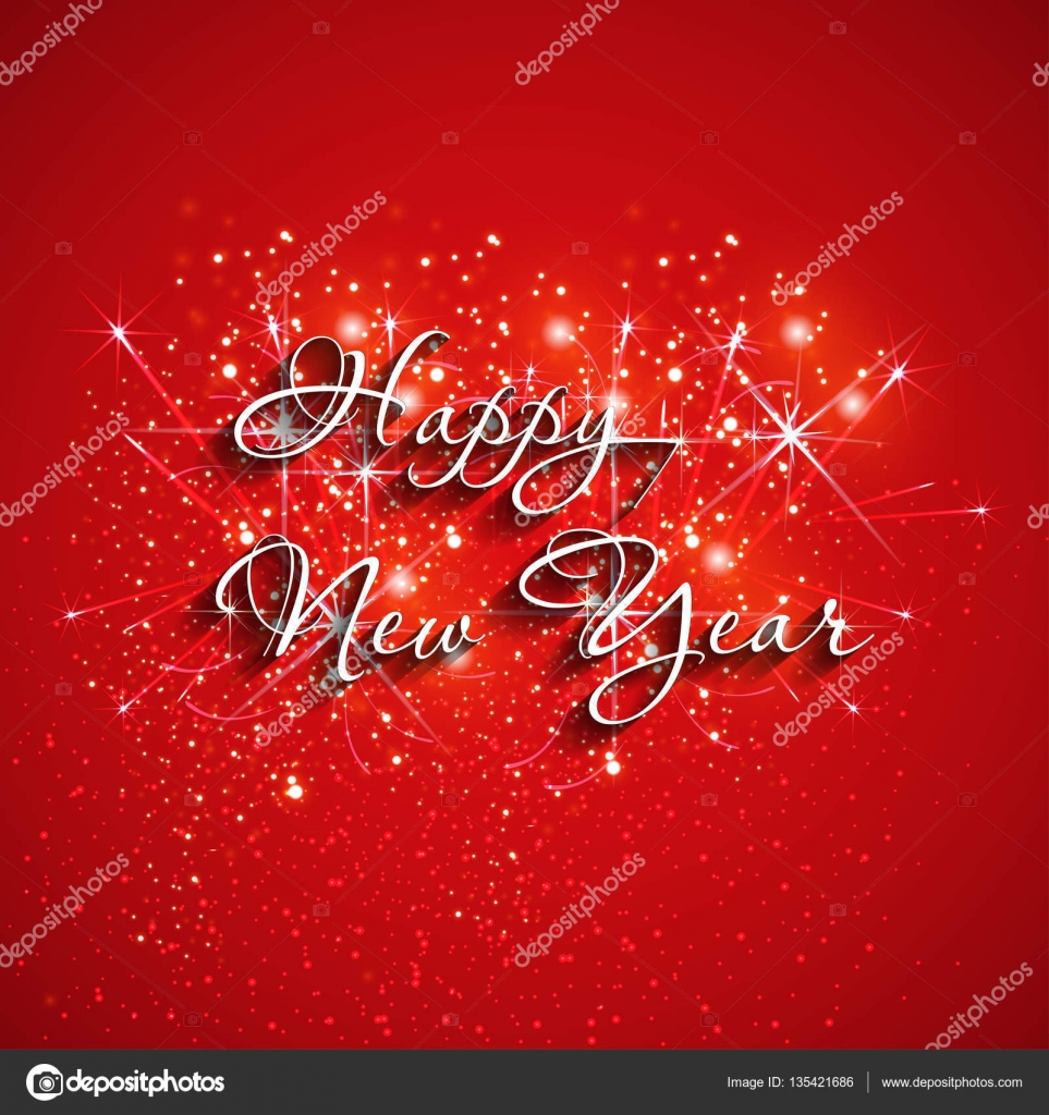 Happy New Year Fireworks Easy All Editable Stock Vector