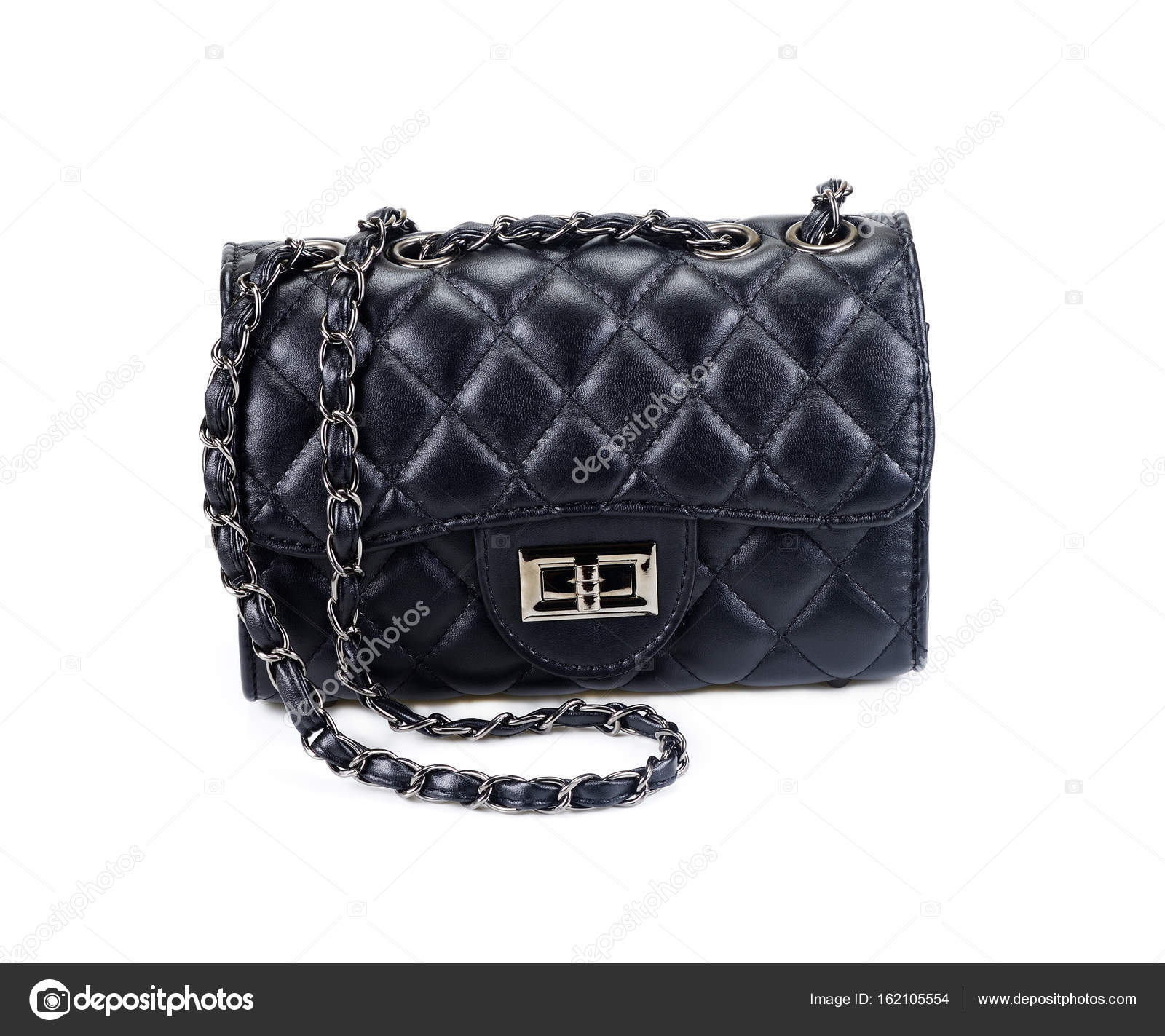 4d6b8420e0 Μαύρη γυναικεία τσάντα που απομονώνονται σε λευκό φόντο. Ωραία και κομψή γυναίκα  τσάντα που απομονώνονται σε λευκό — Εικόνα από big8183 gmail.com