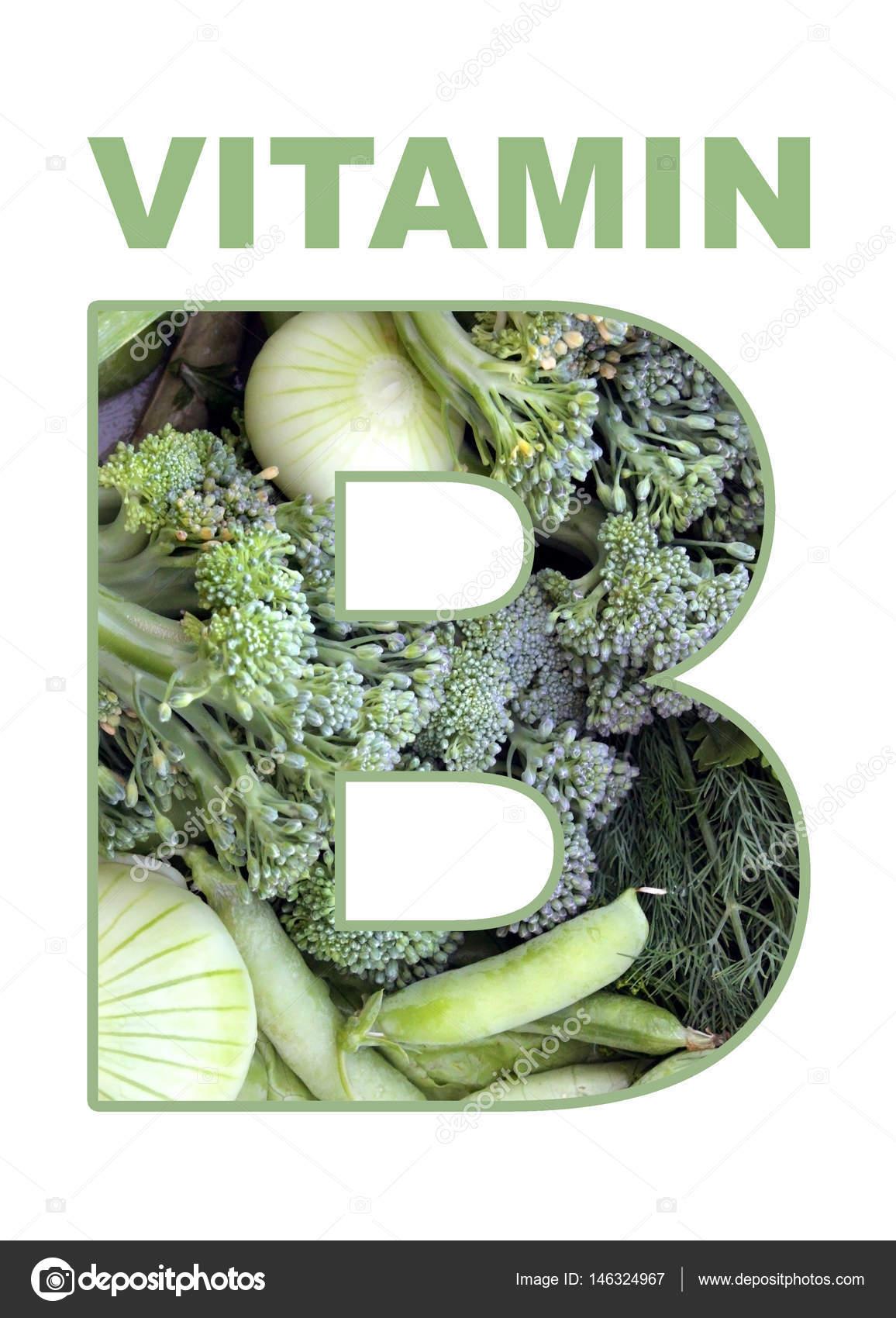 Vitamin B Grüns Und Gemüse Reiche Vitamin B Stockfoto Nastya81