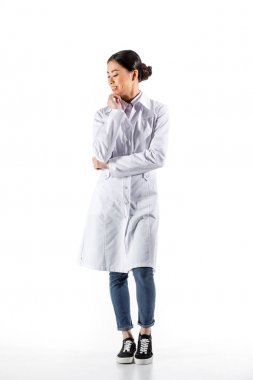 asian doctor in white coat