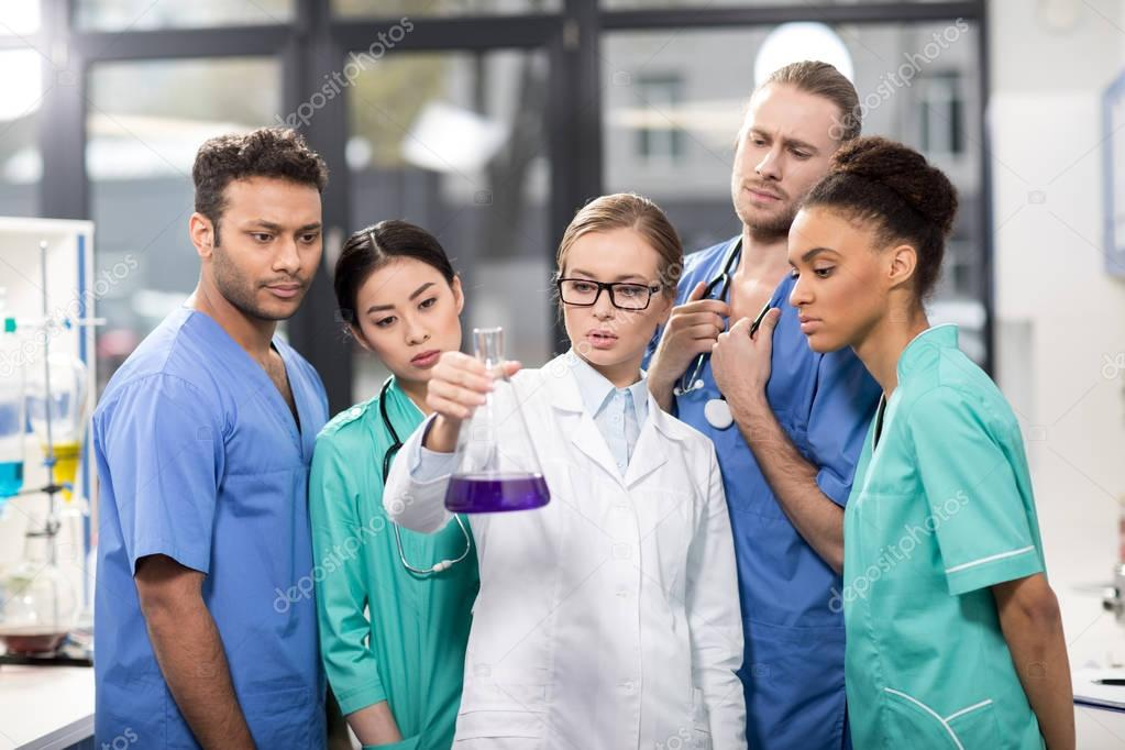 medical workers in laboratory