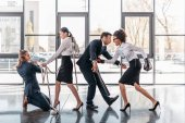 businesspeople fight and quarreling