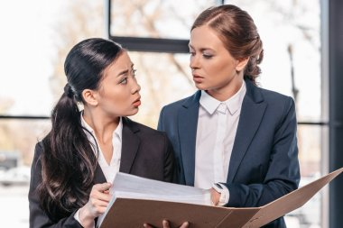 Young businesswomen working