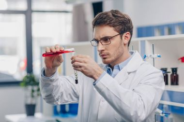 chemist working in biological laboratory