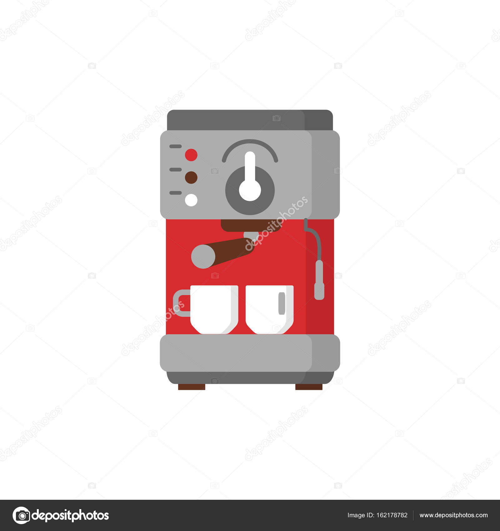 Modern coffee machine flat icon  — Stock Vector © LuckyVector #162178782