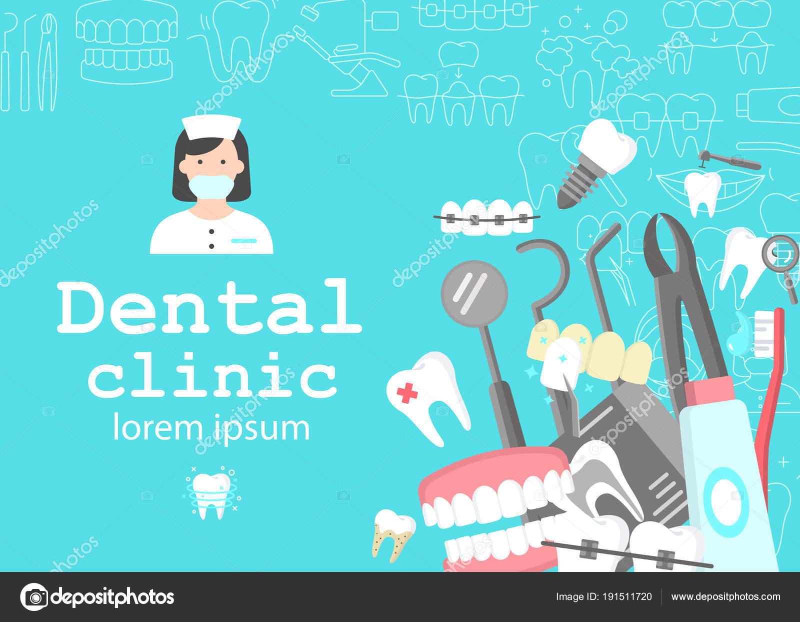 Bandera de gabinete dental — Archivo Imágenes Vectoriales ...