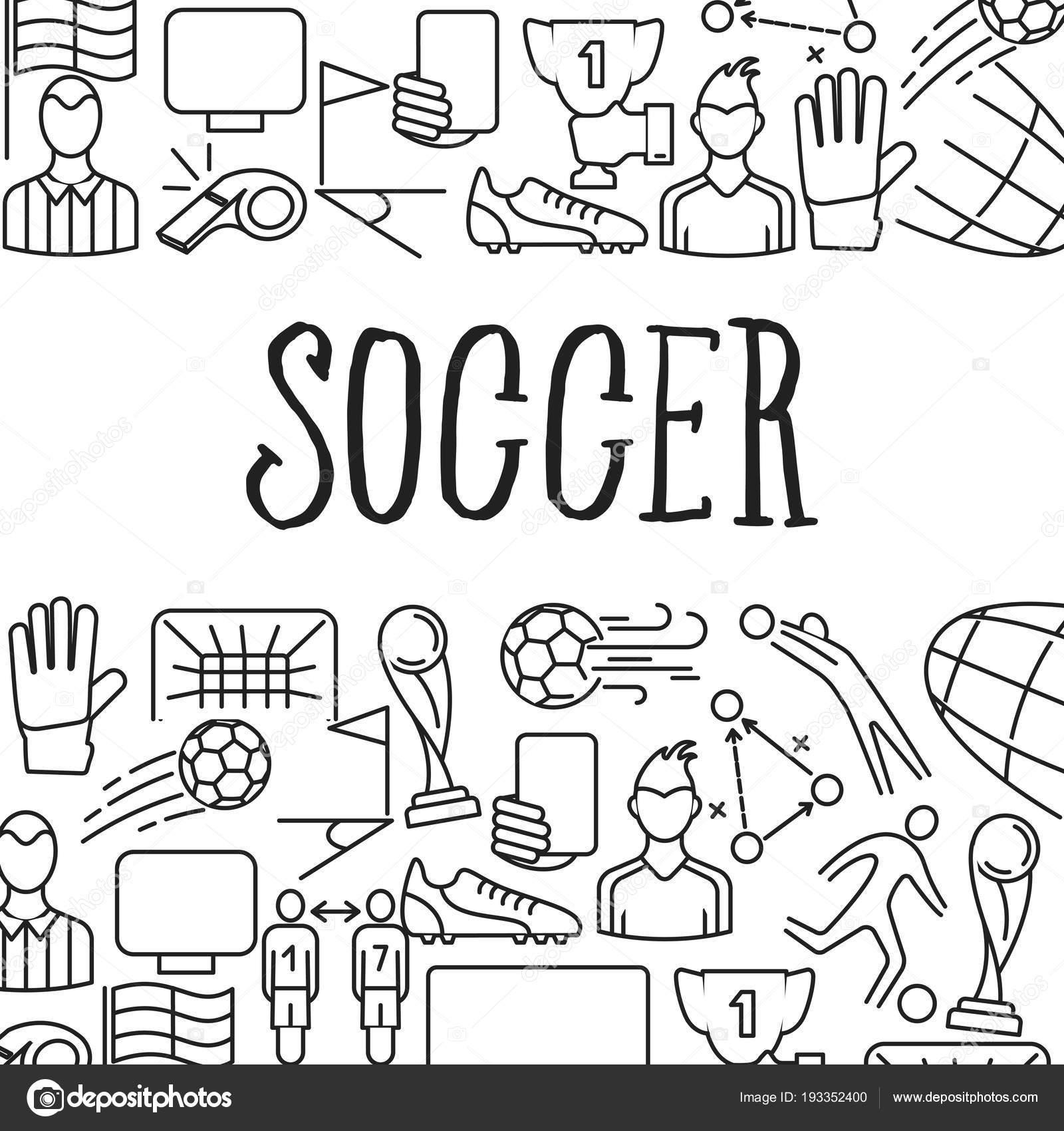 Soccer icons in Frame. — Stock Vector © LuckyVector #193352400