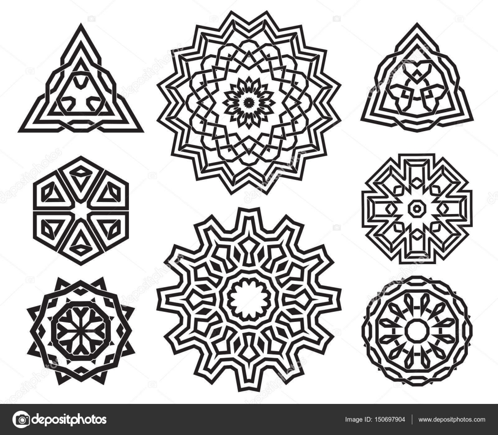 Set Of Celtic Knot Design Elements Stock Vector Frisket 150697904