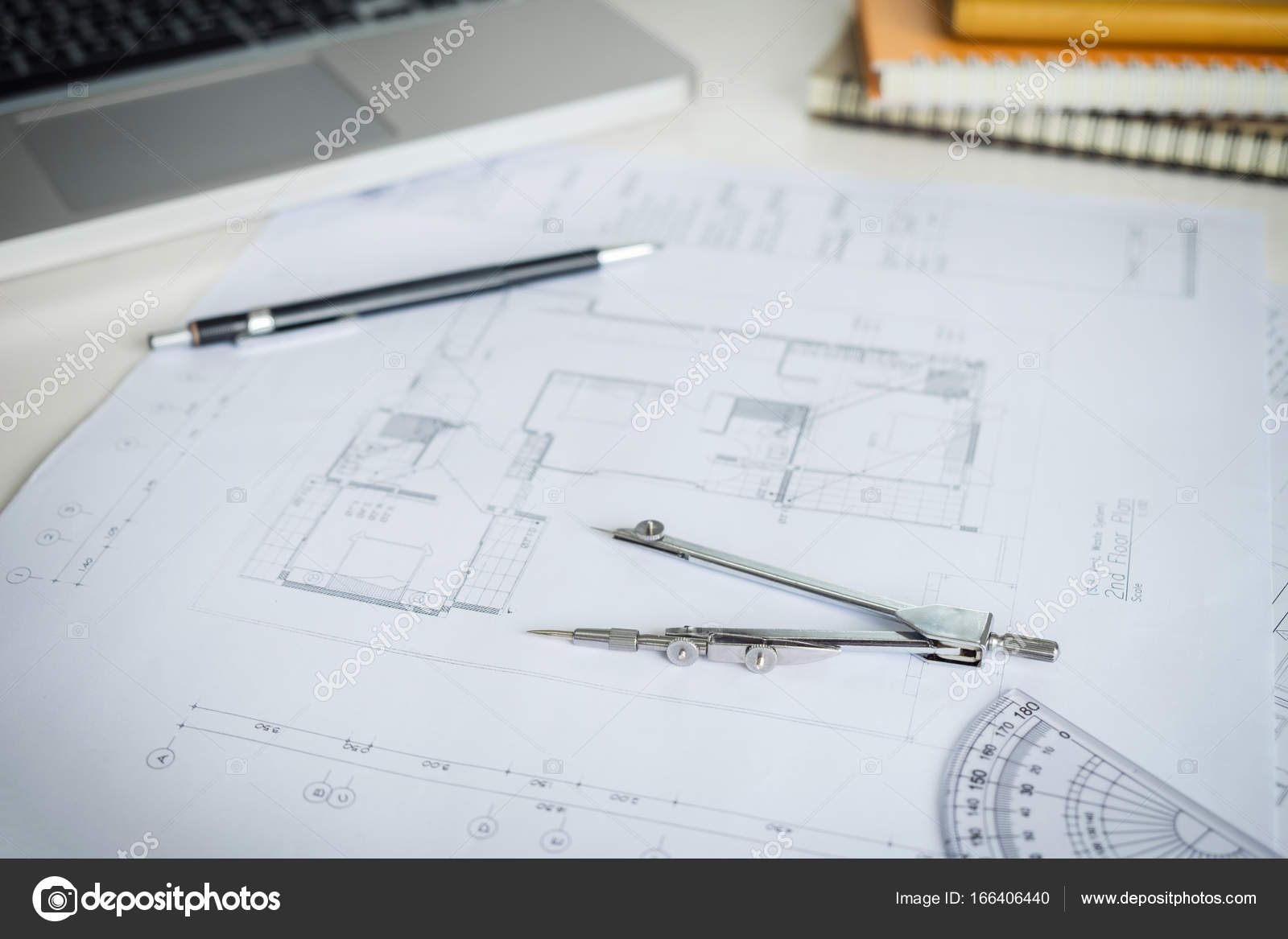 Blueprint paper drafting project sketch architectural dividers blueprint paper drafting project sketch architectural dividers ruler engineering tools on workplace photo by freedomtumz malvernweather Image collections