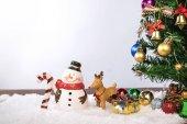 Dekorace Vánoce nebo nový rok s Santa Claus a sn