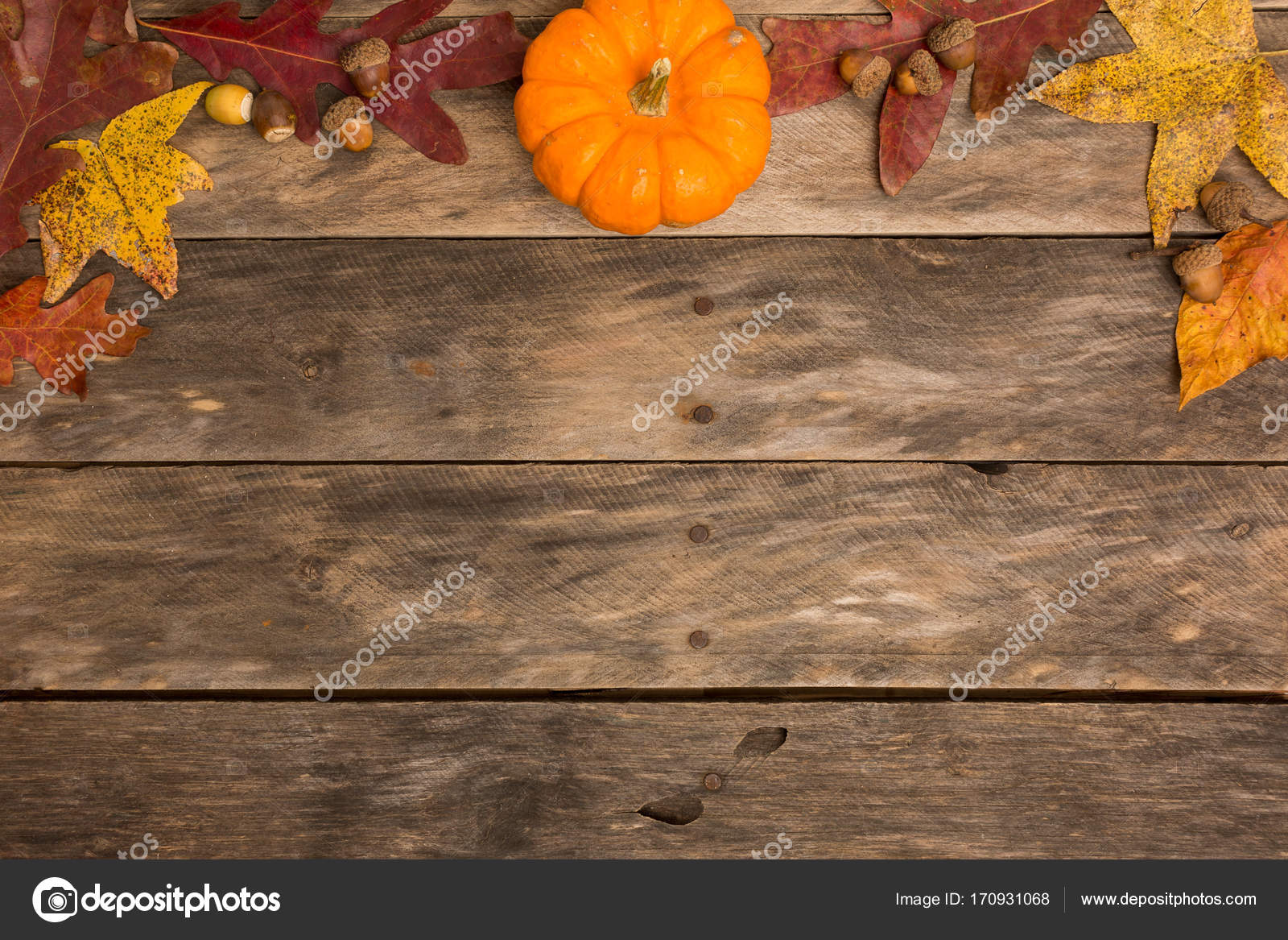 Fall Rustic Background Stock Photo