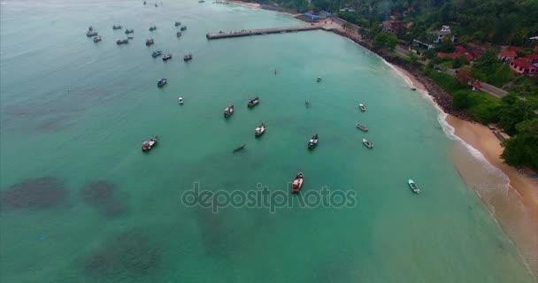 beautiful footage many Boats On The Sea by drone travel Sri Lanka Drone