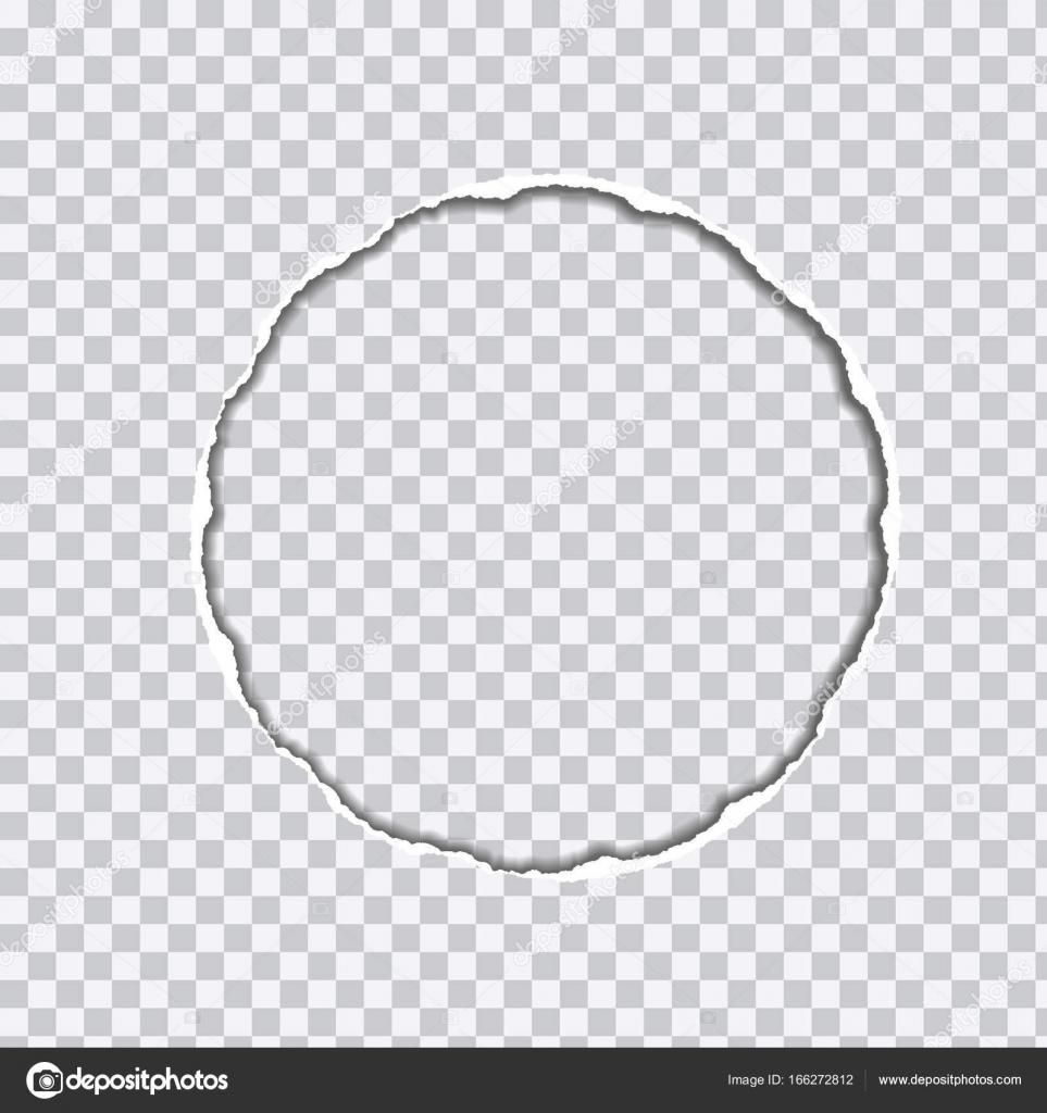 Vector ilustración realista del papel rasgado transparente con ...