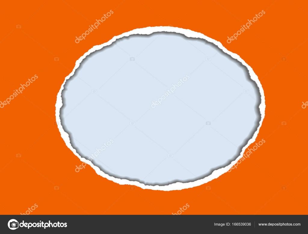 Ilustración realista vector de naranja papel rasgado con sombra y ...