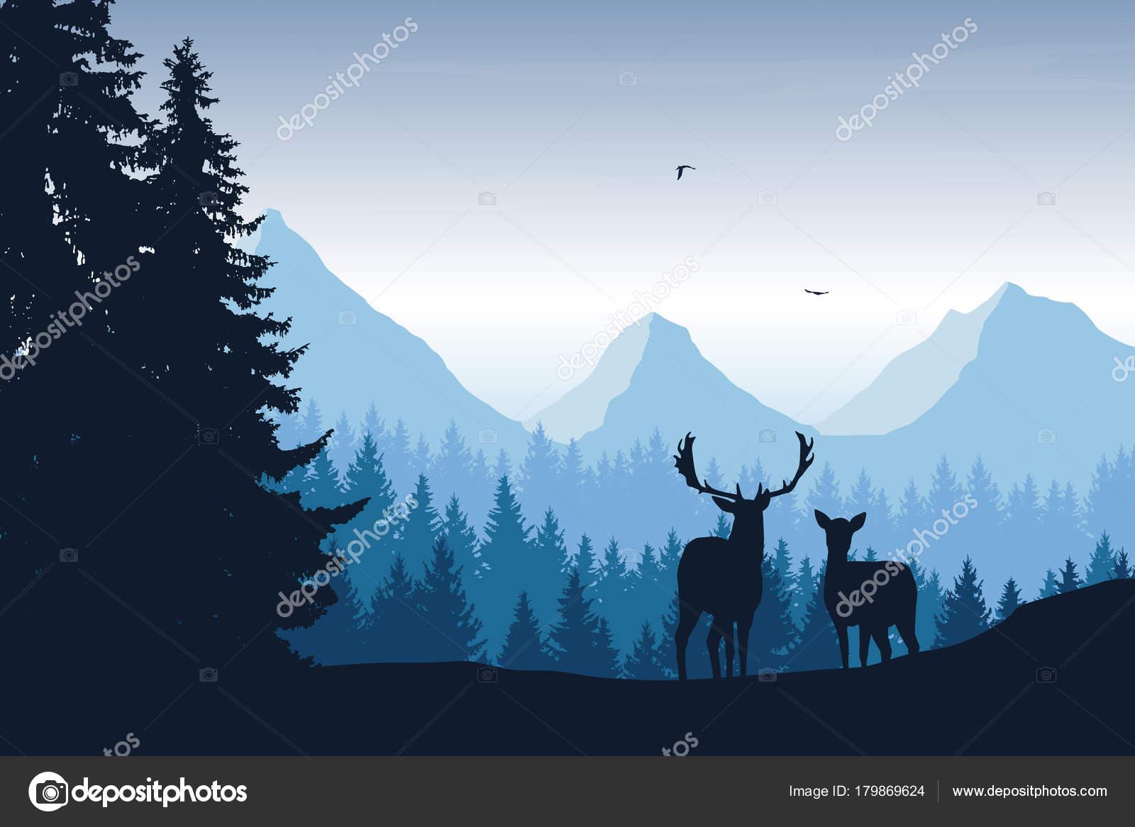 Imagenes Dibujo De Paisaje Natural O Realista Ilustracion