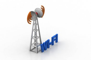 Signal tower  with wi-fi connection