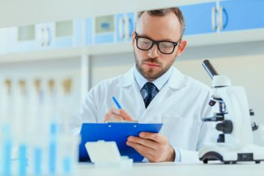 doctor working at testing laboratory