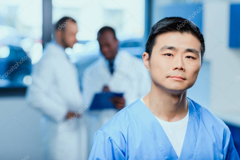 doctor in medical uniform in clinic