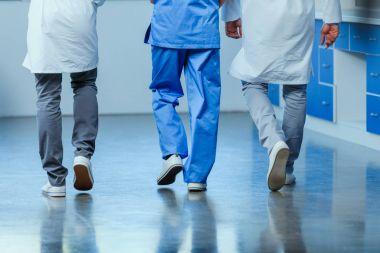 doctors walking in clinic