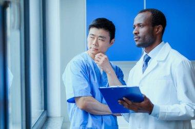 doctors in medical uniforms