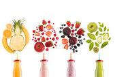 různé zdravé smoothie