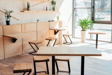 stylish interior of modern cafe