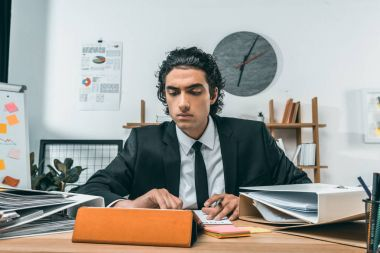 businessman using tablet at workplace