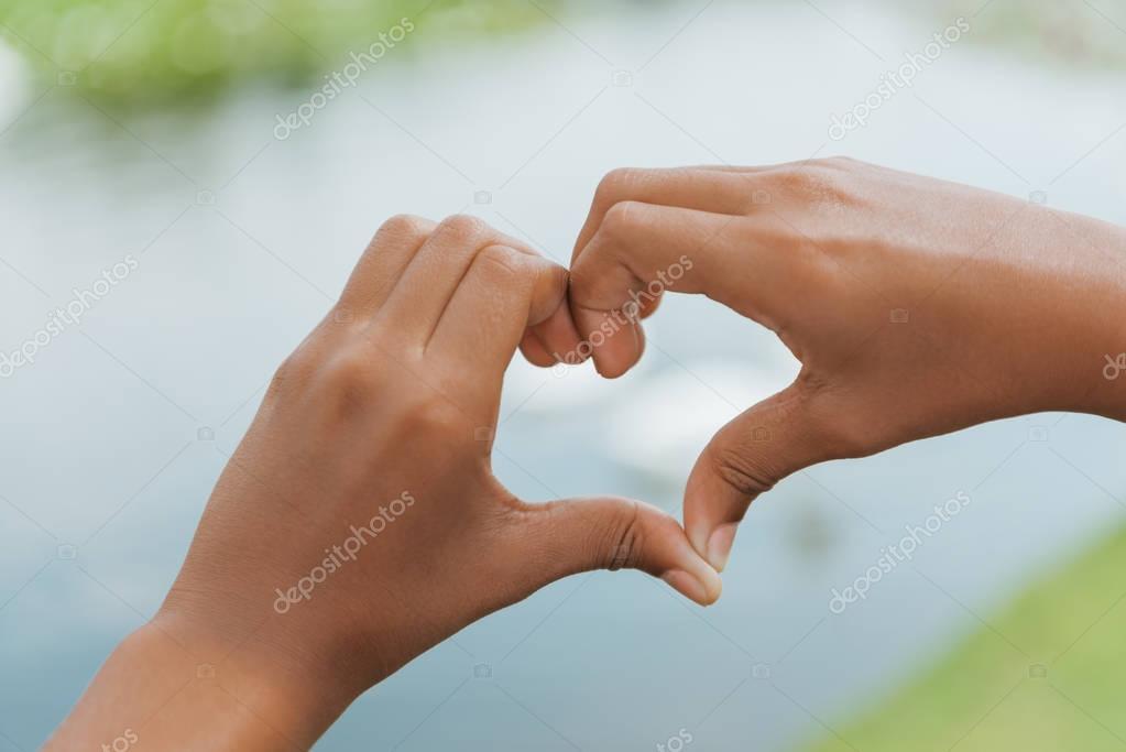heart made of hands
