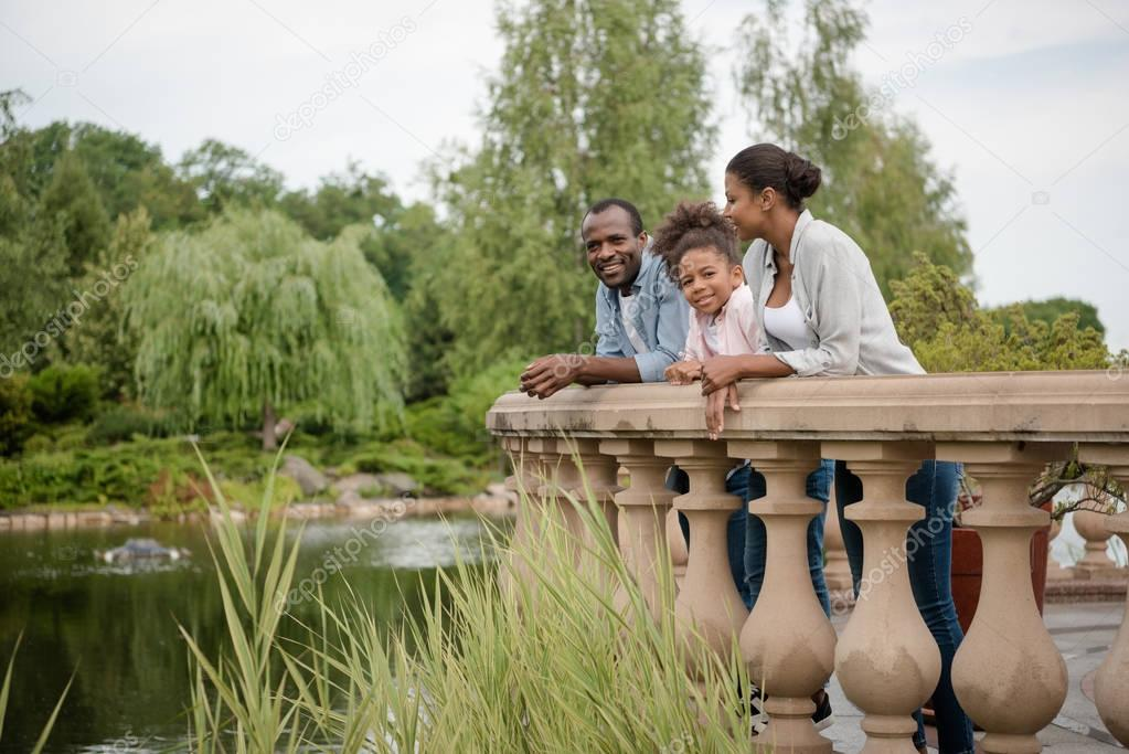 african american family in park