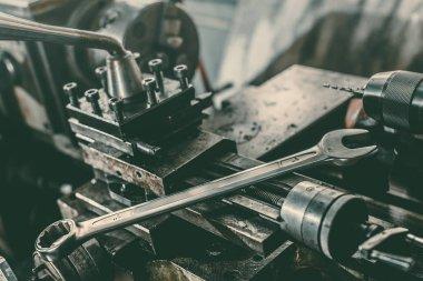 wrench on repairing equipment