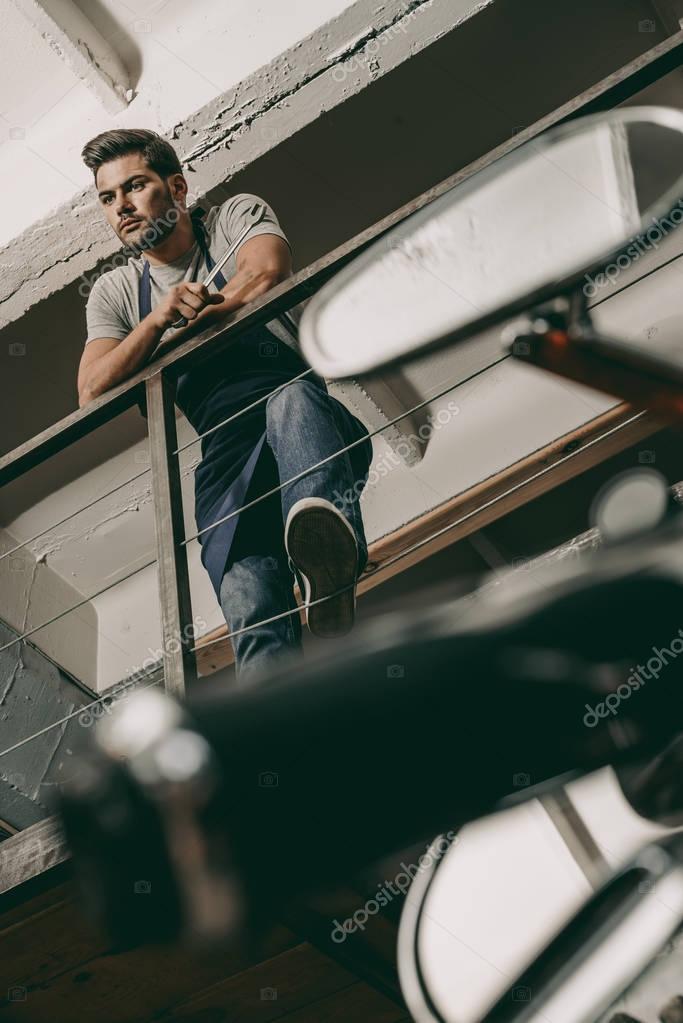mechanic in repair shop