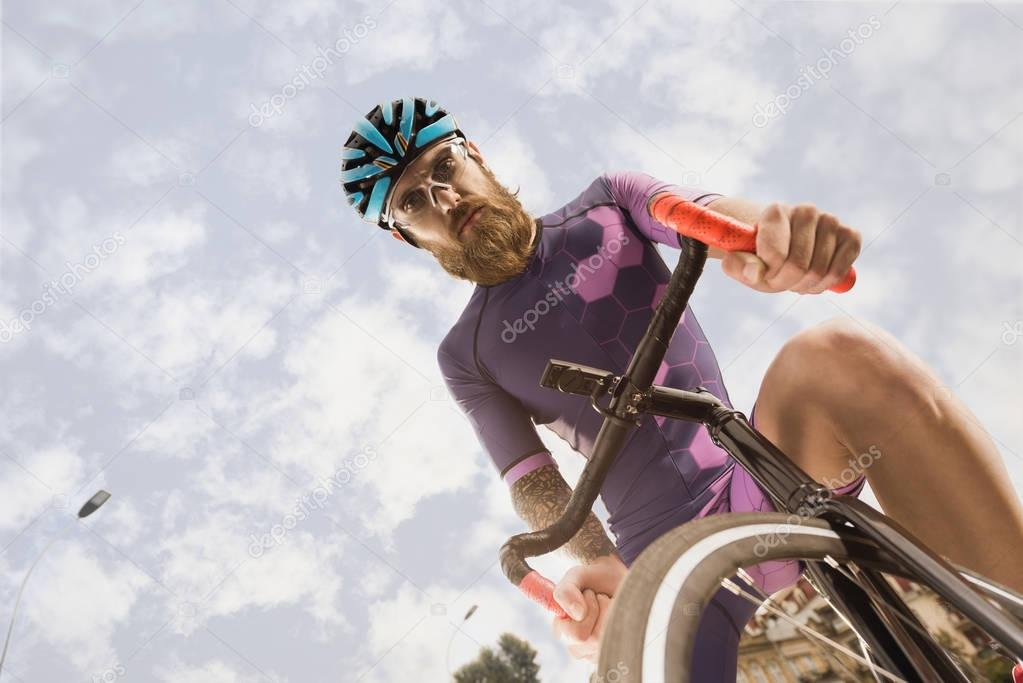 cyclist riding bicycle