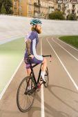 cyklista na cyklus závodní dráha