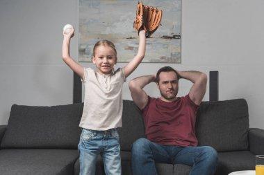 Daughter happy for favorite baseball team