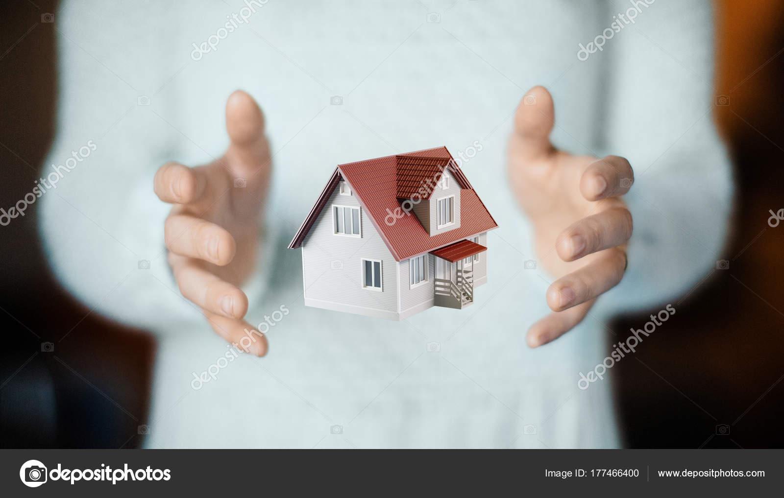 Haus Auf Der Seite Neue Heimat Wohnung Kaufen Stockfoto