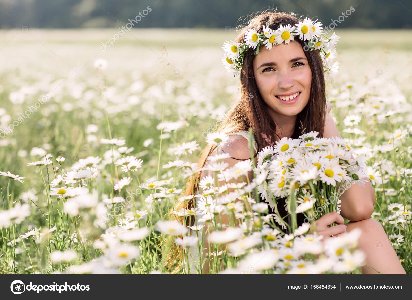 campo de Margarita disfrutando la hermosa mujer f9c42f25b383