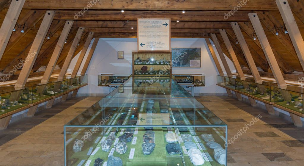 Ridnaun Valley (Ridanna) in South Tyrol, Italy - may 27,2017: South Tyrol mining Museum. The mine Ridanna-Monteneve was in operation for 800 years and is one of the highest ore fields in Europe.
