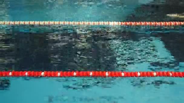 mladý muž, potápění v bazénu