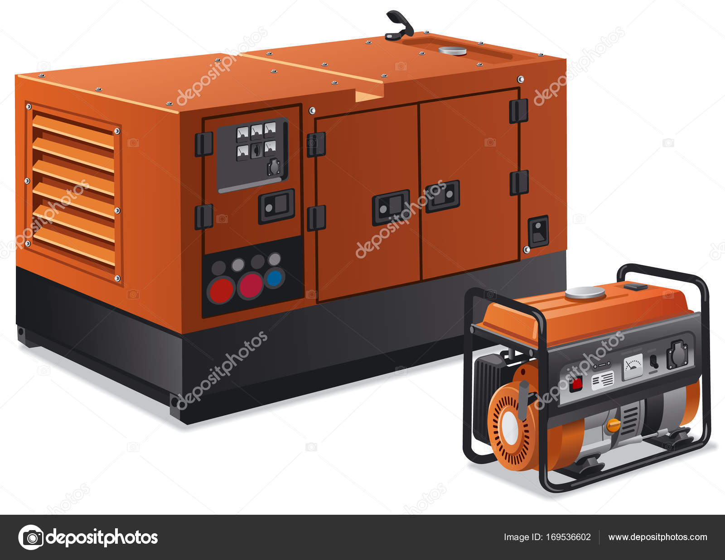 industrial power generators diesel caterpillar industrial power generators stock vector industrial olegtoka1967 169536602