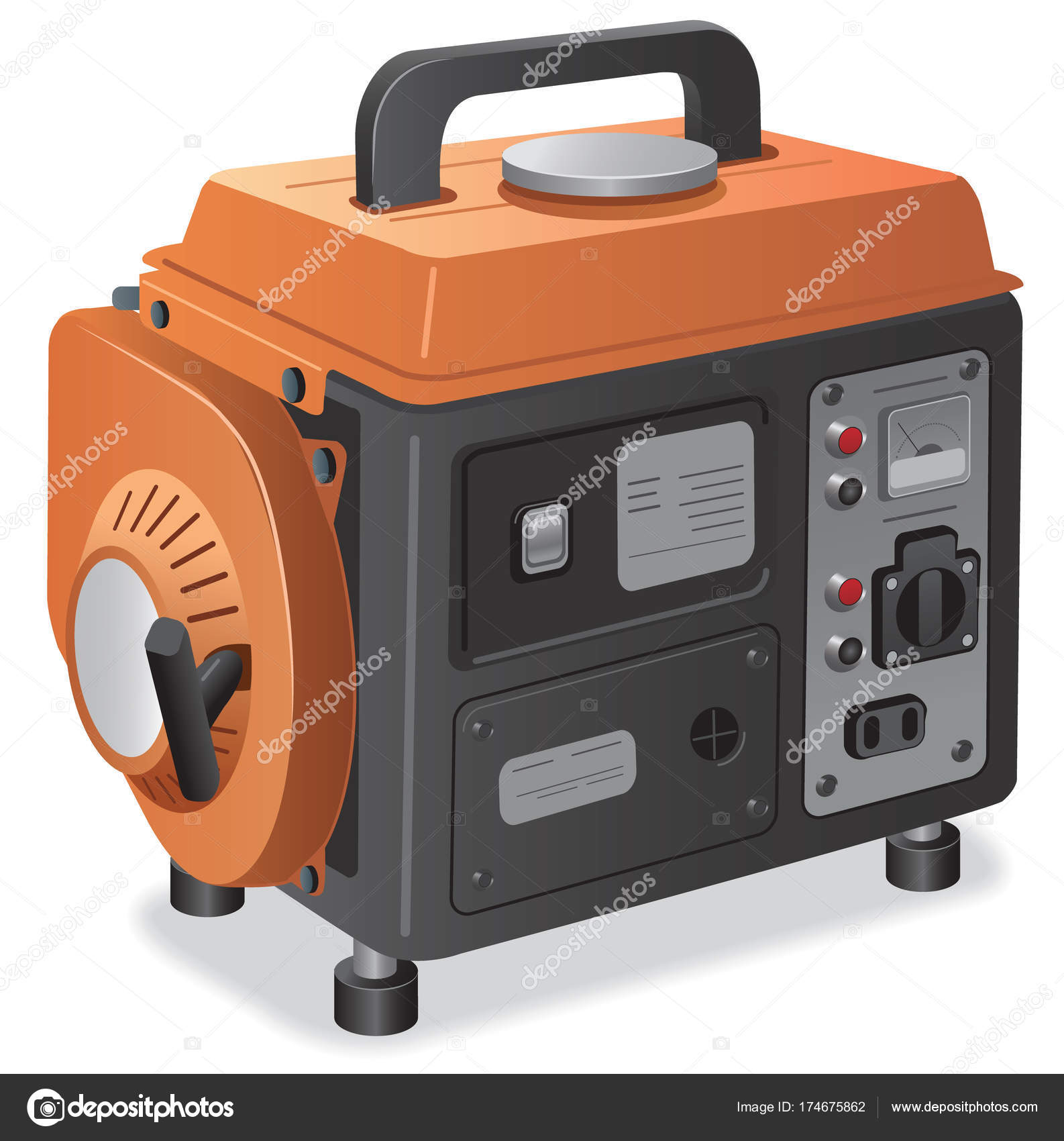 home power generator — Stock Vector © olegtoka1967