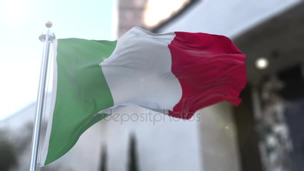 Loopable Italian flag in slow motion.